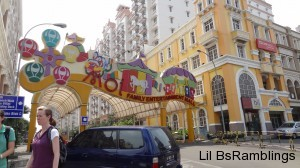 The colorful entrance to Mall of Indoonesia