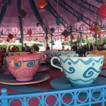 Huge decorated teacups that spin at the riders desire.